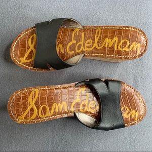 Sam Edelmam Wedge Heel Sandals Size 8.5M